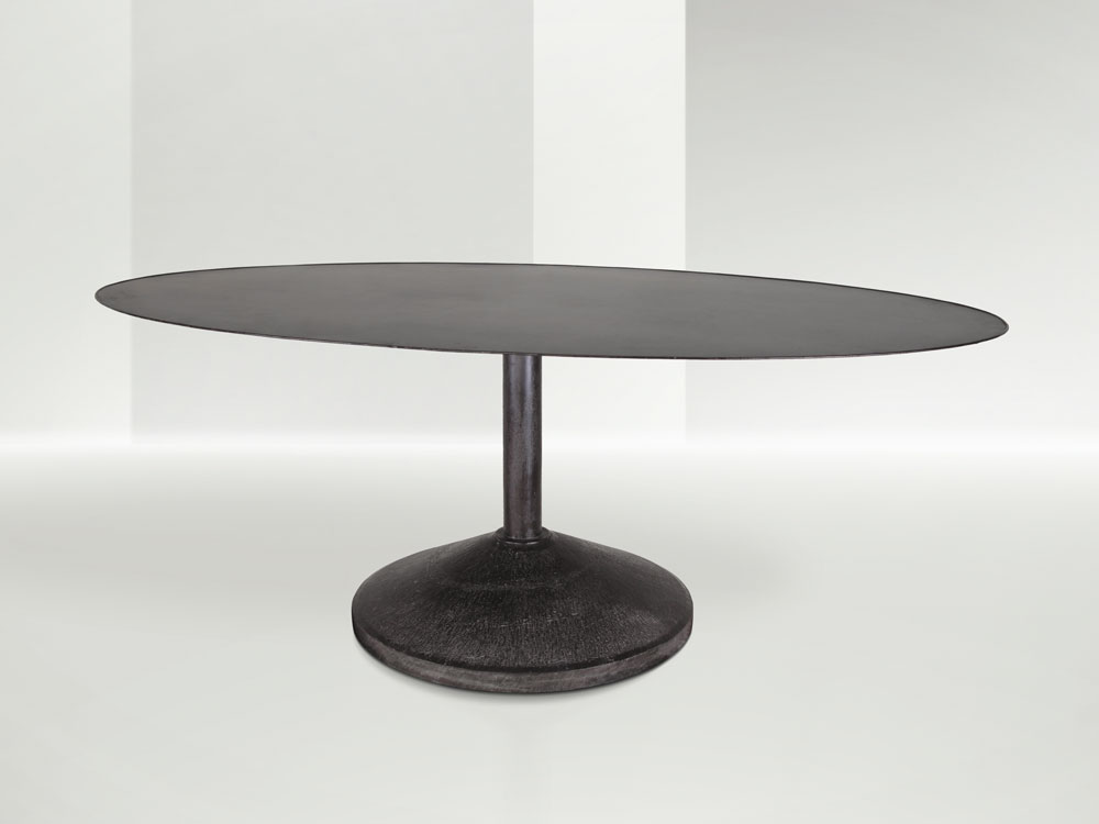 Franco Albini - large table with a lacquered metal structure