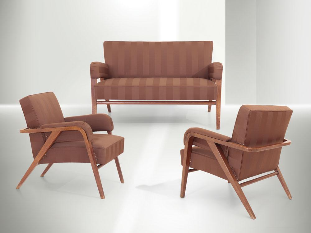 Franco Albini - Salotto con divano e due poltrone