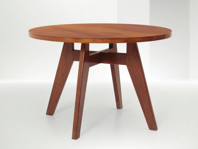 Table with wooden structure