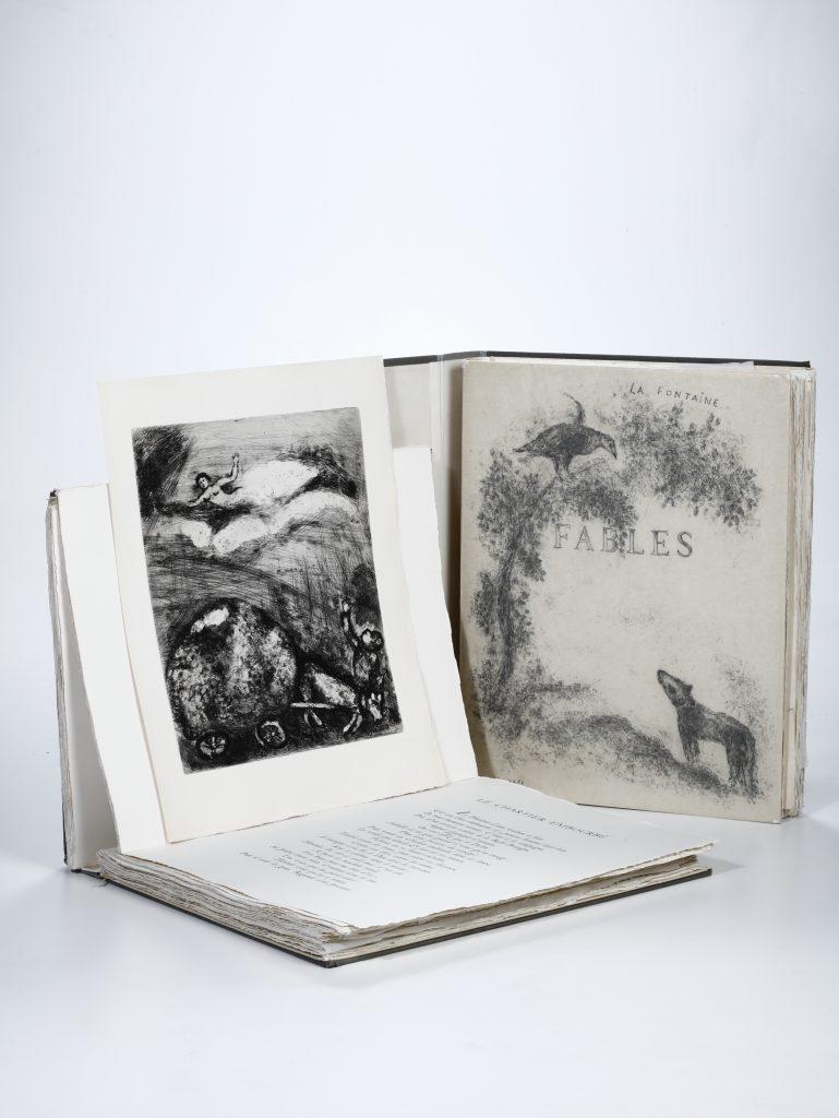 Jean de la Fontaine - Marc Chagall Fables. Eaux-fortes originales de Marc Chagall. Paris, Teriade, 1952.