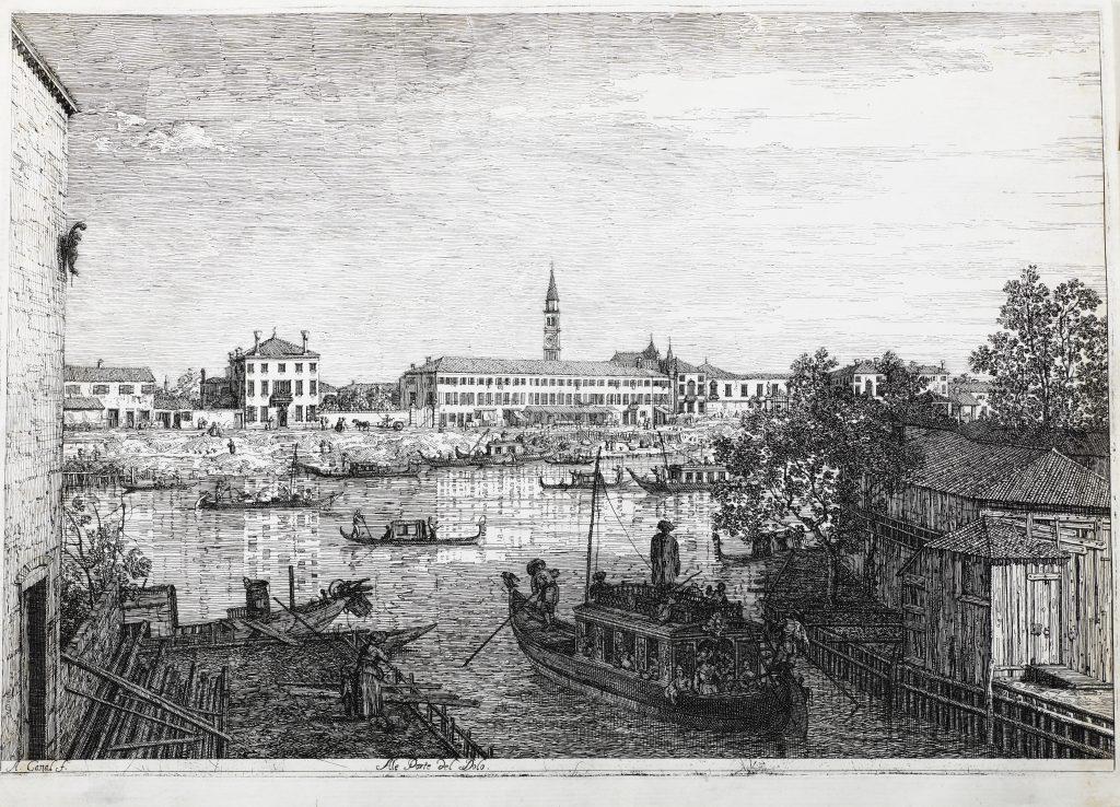 Giovanni Antonio Canal detto Il Canaletto (Venezia 1697-1768) Alle Porte del Dolo.