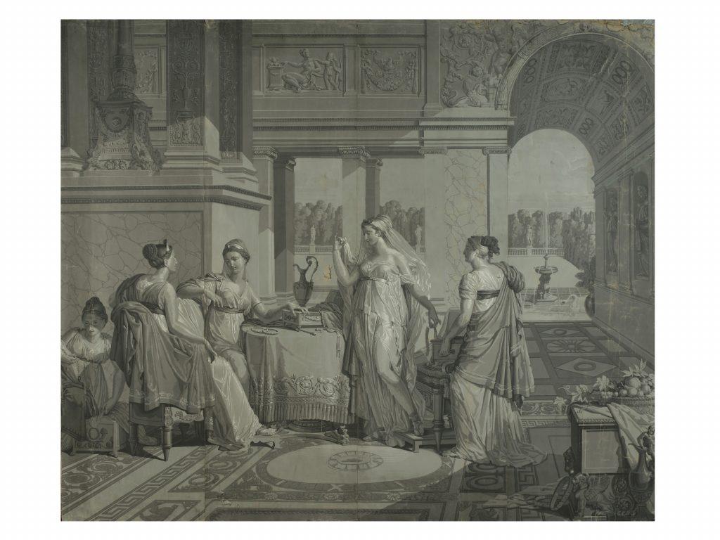 Merry-Joseph Blondel e Louis Lafitte, Dodici papiers peints. Manifattura Dufour, Parigi inizio XIX secolo.