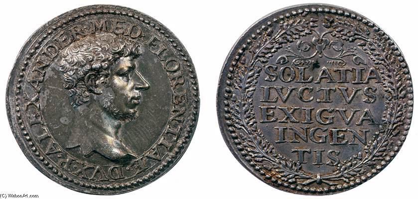 Benvenuto Cellini, Medaglia di Alessandro de' Medici. Argento. 3x3 cm. 1530. Museo Nazionale del Bargello, Firenze